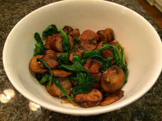 Chicken Apple Sausage, Mushroom, Spinach & Quinoa Bowl