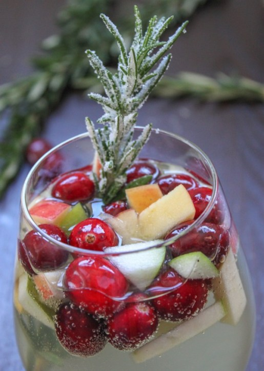 Cranberry Rosemary White Sangria