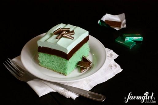 Creme de Menthe Grasshopper Cake