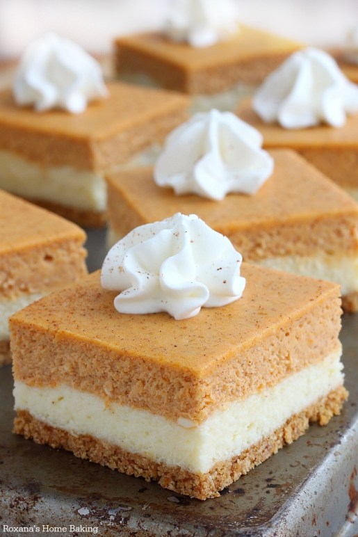 Pumpkin Cheesecake Bar
