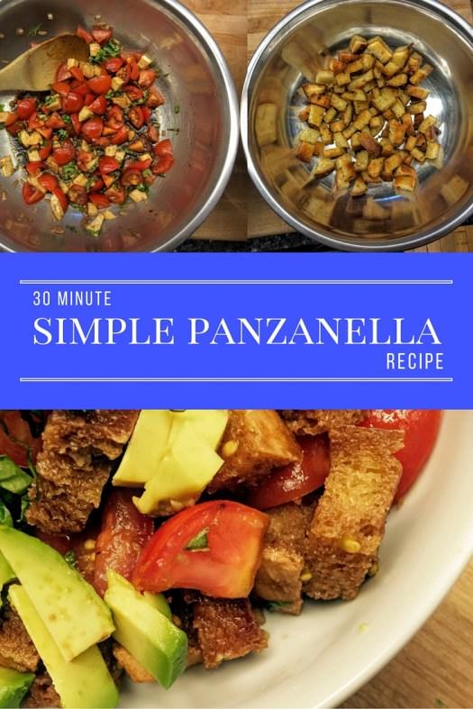 30 minute panzanella