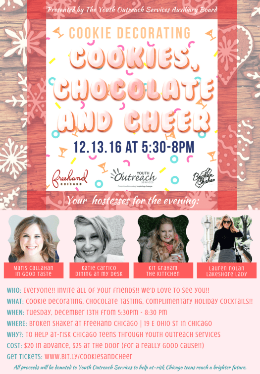 Cookie Chocolate and Cheer Invitation