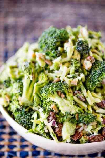 Broccoli Raisin Salad - Dinner, then Dessert
