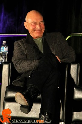 Patrick Stewart is giddy