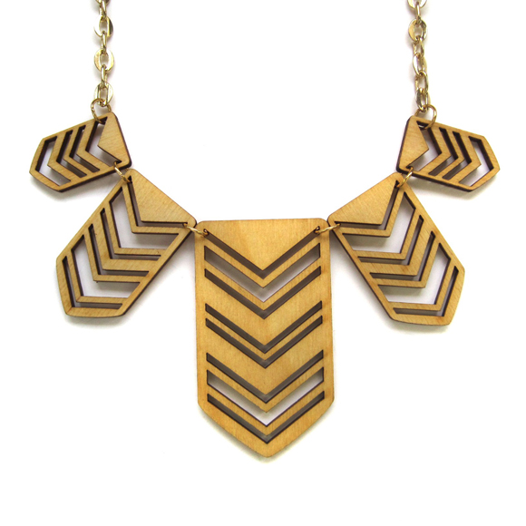 Brika Joyo Shield Plate Necklace