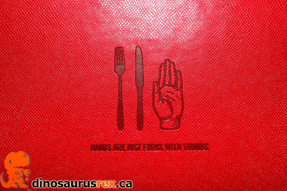 Hands are just forks with thumbs