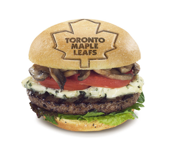 Hero Burger - Leafs Branded Bun