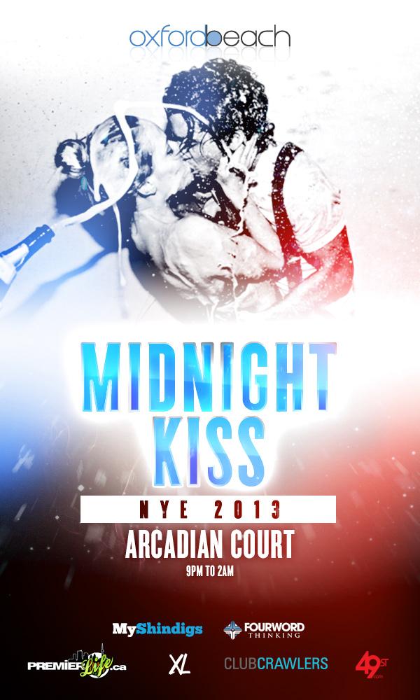 Oxford Beach Presents: Midnight Kiss NYE 2013