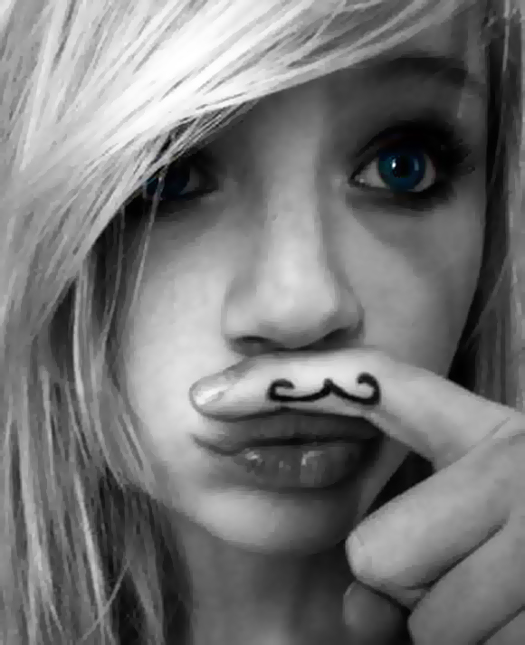 cute-girl-mustache-black-and-white-tatoo-girl-movember