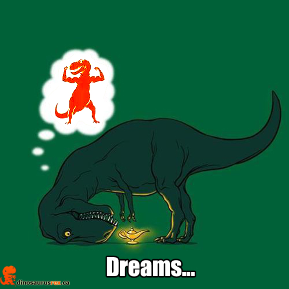 dreaming-dinosaur-stubby-arms-magic-lamp-dinosaurus rex