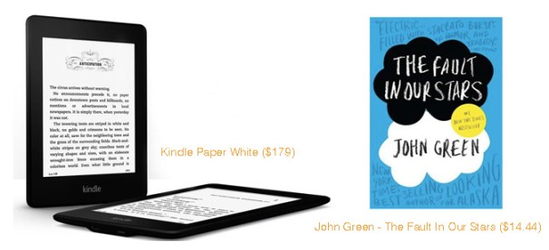 Amazon Kindle Paper White & The Fault in Our Stars by John Green