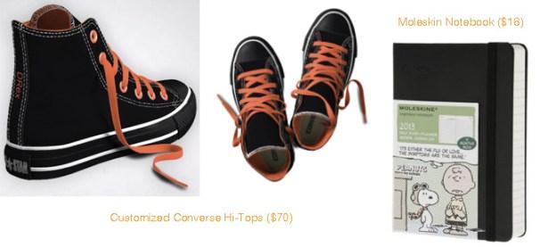 Converse Custom High-Tops & Moleskin Notebook