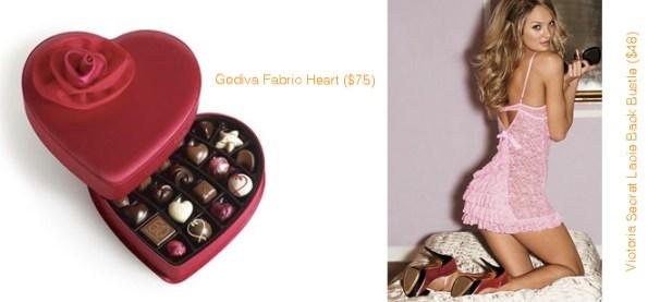 Godiva Fabric Heart Chocolates & Victoria Secret Lacie Back Bustle