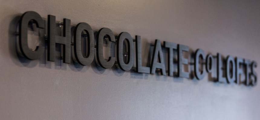 Chocolate Co Lofts Lobby Sign