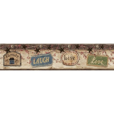 CTR63151B - Live Love Laugh Border - Discount Wallcovering