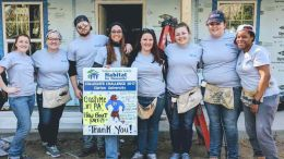 Clarion University, Venango SEED club members Matthew Beightol, Taylor Berger, Emily Knowles, Casey McVay, Kelsey Monro, Jenna Paratore, Courtney Paton and Shantel Scott recently built a home for a family in need in Valdosta, Georgia, with Habitat for Humanity. (Submitted photo)