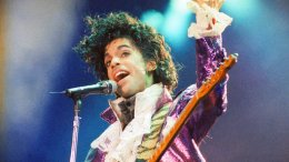 In this Feb. 18, 1985, file photo, Prince performs at the Forum in Inglewood, Calif. (AP)