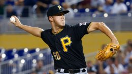 Pittsburgh Pirates' Jameson Taillon delivers a pitch during the first inning of a baseball game against the Miami Marlins, Friday, April 28, 2017, in Miami. (AP)
