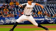 Pittsburgh Pirates starting pitcher Steven Brault delivers in the first inning of a baseball game against the Milwaukee Brewers, Wednesday, Sept. 20, 2017 in Pittsburgh. (AP)