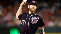 Washington Nationals starting pitcher Stephen Strasburg delivers a pitch during the third inning of a baseball game against the Pittsburgh Pirates, Friday, Sept. 29, 2017, in Washington. (AP)