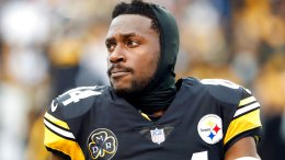 Pittsburgh Steelers wide receiver Antonio Brown before an NFL football game against the New England Patriots at Heinz Field in Pittsburgh Sunday, Dec. 17, 2017. (AP)