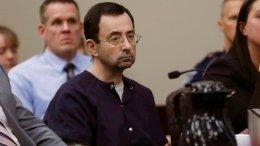 In this Jan. 24, 2018, file photo, Larry Nassar sits during his sentencing hearing in Lansing, Mich. (AP)