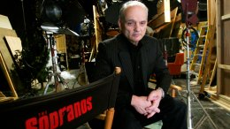 "In this March 3, 2006 file photo, David Chase, creator and producer of the hit HBO series ""The Sopranos,"" poses on a set in the Queens borough of New York. (AP)"