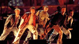 In this June 3, 2000 file photo, members of NSync (from left) Lance Bass, Joey Fatone, Justin Timberlake,  JC Chasez and Chris Kirkpartrick perform at the 9th annual MTV Movie Awards in Culver City, Calif. (AP)