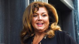In this May 9, 2017, file photo, TV personality Abby Lee Miller arrives at court in downtown Pittsburgh, for the second day of her sentencing hearing. (AP)