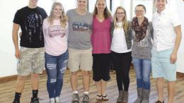 Clarion-Limestone students and teacher involved with Clarion County Youth Council shown here are: Riley Hummel, Ashley Daugherty, Ian McNaughton, Jennifer Simpson, teacher/advisor, Maddi Griffith, Katelyn Dailey, and Greyson Knepp. (Submitted photo)
