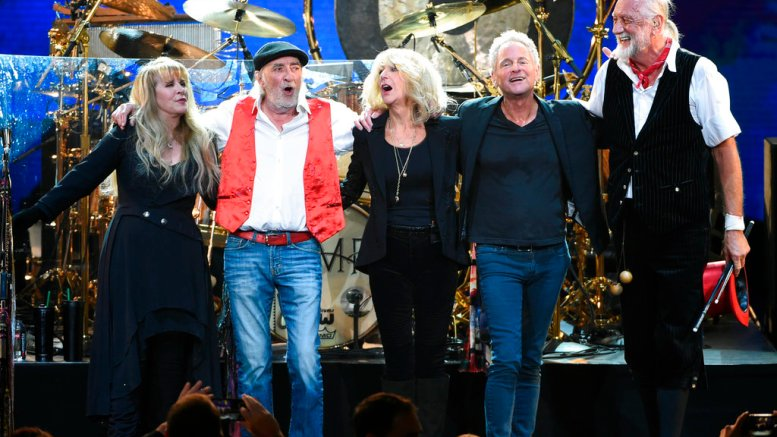 In this Jan. 26, 2018, file photo, Fleetwood Mac band members (from left) Stevie Nicks, John McVie, Christine McVie, Lindsey Buckingham and Mick Fleetwood appear at the 2018 MusiCares Person of the Year tribute honoring Fleetwood Mac in New York. (AP)