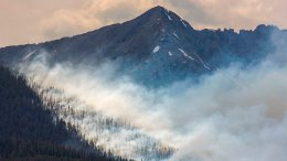 In this July 5, 2017, file photo, a wildfire burns near Breckenridge, Colo. Forecasts indicate Colorado could be in for its worst wildfire year since the historic fire seasons of 2012 and 2013, leading Gov. John Hickenlooper and fire officials to warn residents on Friday, April 13, 2018, to do their part to help prevent fires. (AP)