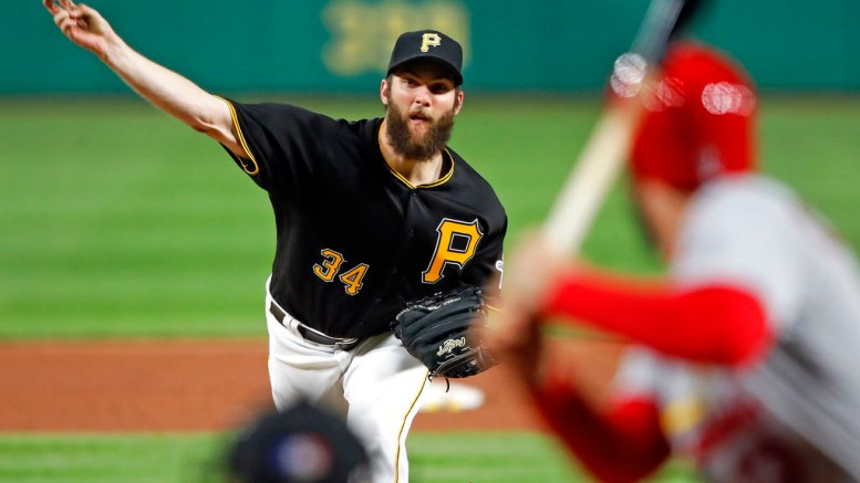 Pittsburgh Pirates starting pitcher Trevor Williams (34) delivers during the sixth inning of a baseball game against the St. Louis Cardinals in Pittsburgh, Saturday, April 28, 2018. (AP)