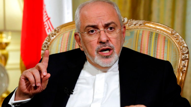 In this April 24, 2018, file photo, Iran's Foreign Minister Mohammad Javad Zarif is interviewed by The Associated Press, in New York. (AP)