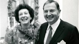 This undated photo provided by Christie's Images Ltd. 2018 shows oil-family scion David Rockefeller and his wife Peggy.  (AP)