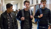 """This image released by Netflix shows (from left) Christian Navarro, Dylan Minnette and Brandon Flynn in """"13 Reasons Why."""" (AP)"""