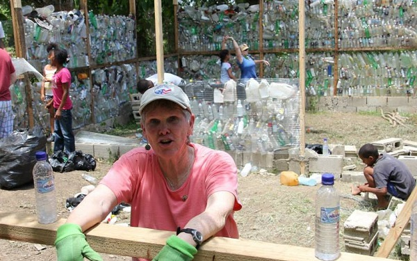 woman on volunteer vacation