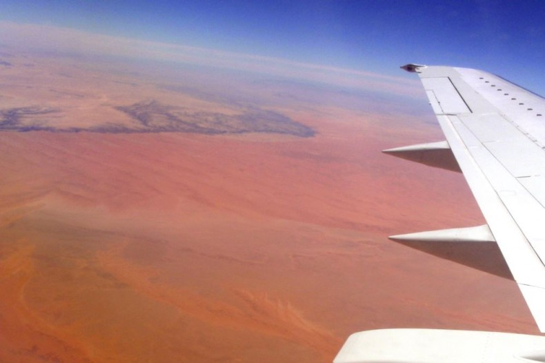 Flying over Namibia