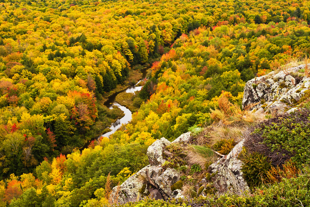 Autumn Precipice - Upper Peninsula Michigan in the Fall