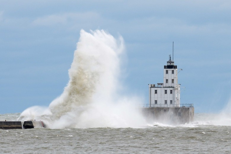 Hurricane Sandy's Lake Michigan waves - big, but not historic...