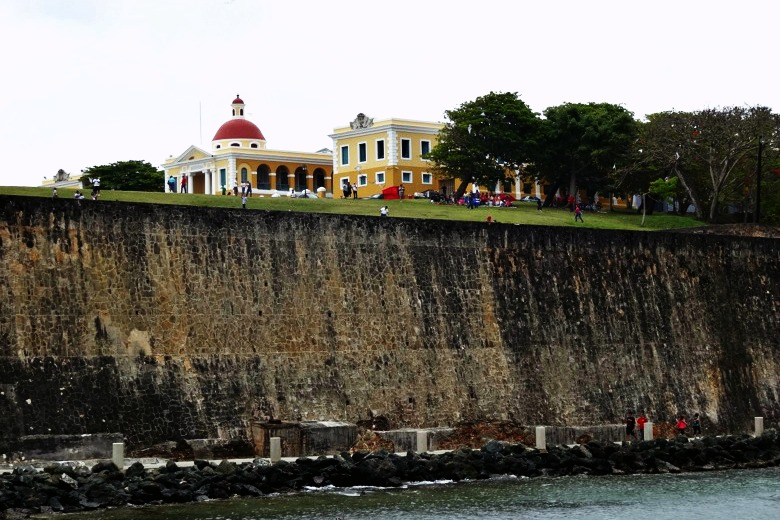 Defensive wall around Old San Juan
