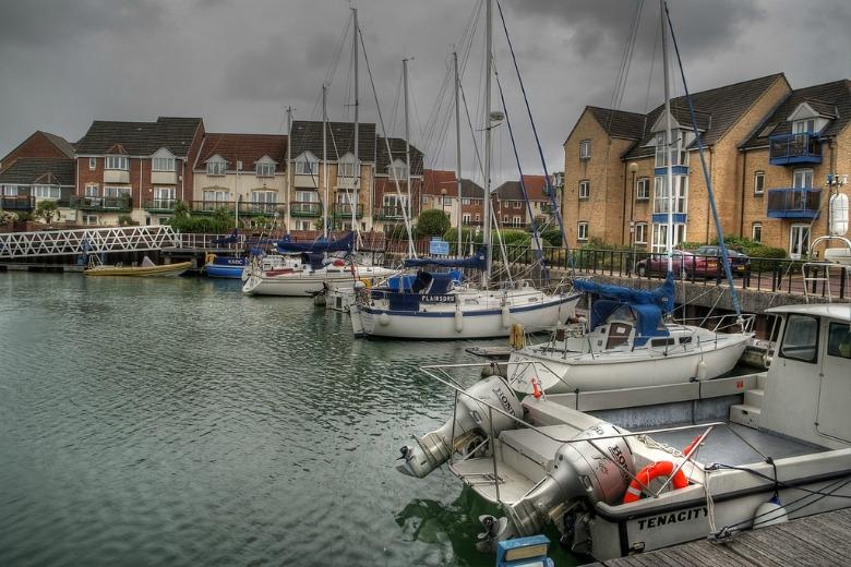 Ocean Village Marina in Southampton England