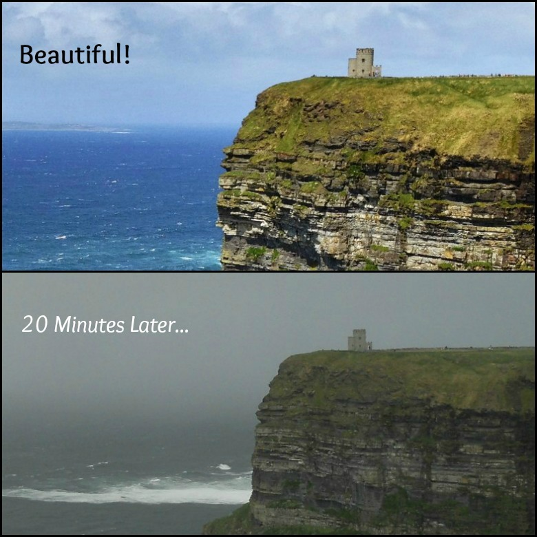 The Cliffs of Moher 20 minutes later