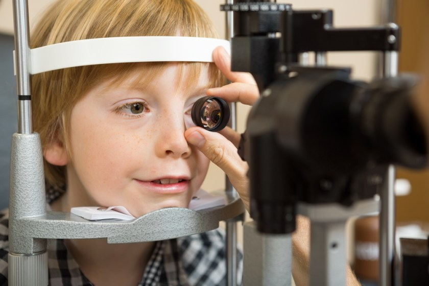 boy eye exam - vision and special needs children