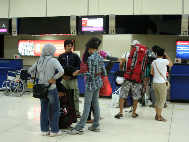 Check in counter Jakarta