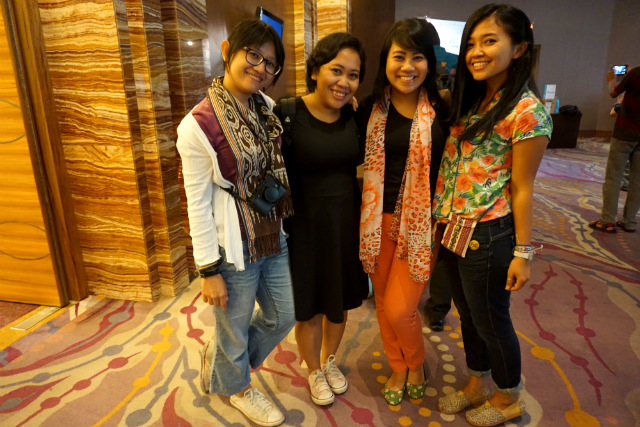 TBI girls at SkyScanner event
