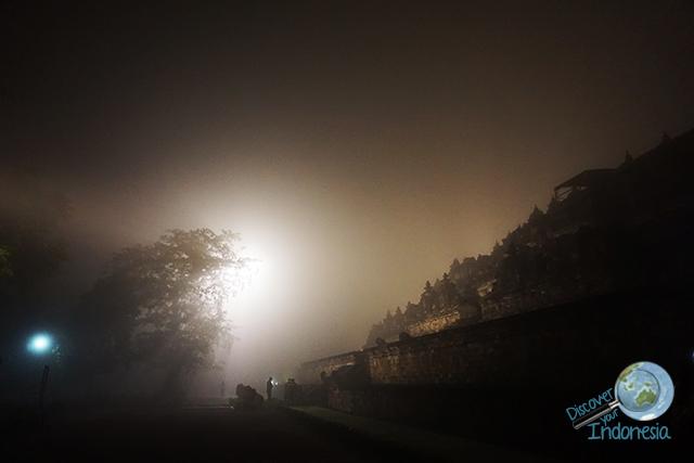 Borobudur temple at early morning