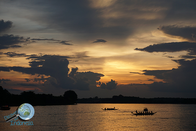 cruising musi river dragon boat