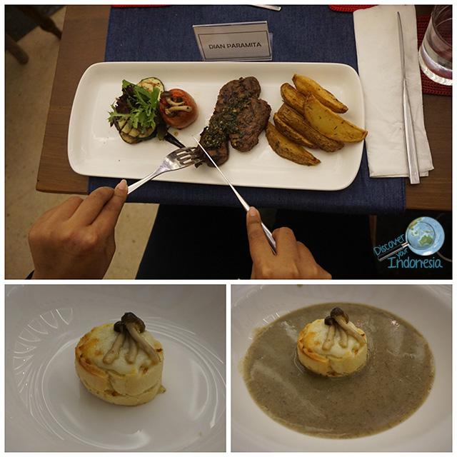 mushroom soup at honje and steak