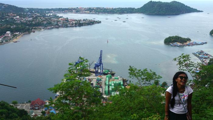 Jayapura city from above